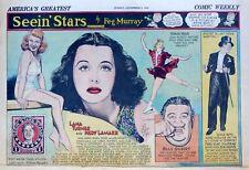 Seein' Stars by Murray, half-page Sunday Sept. 8, 1940 - Lana Turner - 1st Stamp