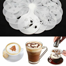 16Pcs Coffee Cake Cupcake Plastic Stencil Template Mold Decoration Tool
