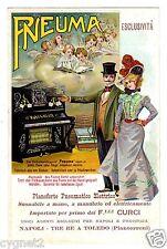 POSTCARD ADVERTISING PNEUMA GERMAN ELECTRIC PIANO ITALIAN SALES AGENT