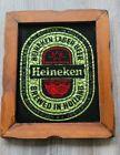Heineken Lager Beer Wood Frame Picture