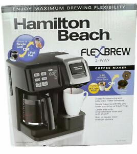 Hamilton Beach FlexBrew Trio Coffee Maker,2-way Single Serve and Full 12 Cup Pot