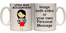 LITTLE MISS ACCOUNTANT PERSONALISED MUG AND COASTER (T7) 11oz & 15oz GIFT