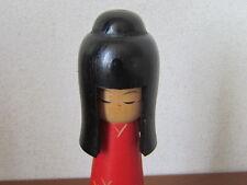 Japanese Vintage 1970's kokeshi Women of Japanese coiffure 24cm signed Figure