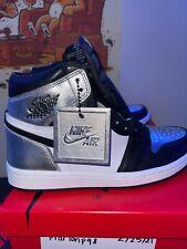 WMNS Air Jordan 1 Retro High OG Silver Toe (W) Size 9 in Womens