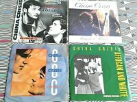 "4 X China Crisis 7"" Singles. Vinyl all EXCELLENT. Picture Sleeves"
