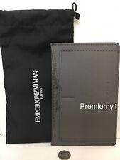 "New Emporio Armani Parfums Gray Men's Passport Holder 6.25"" x 4"""