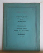 Botanical Index - Bibliography of References to Literature on the Minor Elements