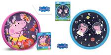 Official Licensed Peppa Pig Bedroom Nursery Wall Clock 25 Cm