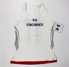 New Under Armour Cincinnati Bearcats Running Track Singlet Women's Medium White