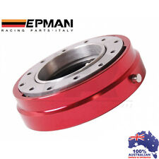 *RED* EPMAN RACING THIN QUICK RELEASE SNAP OFF STEERING WHEEL HUB ADAPTER