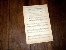4 offertoires à 2 voix mixtes Marc de Ranse + Tu es petrus à voix mixtes 1949