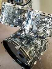 1960's copper badge Slingerland Black Diamond Pearl 5 pc