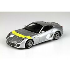 1:43 BBR Ferrari 599 GTO 2010 Silver-Yellow Stripe RARE NEW