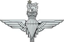 Incorniciato militare britannica INSIGNIA stampa-il paracadute REGGIMENTO (para FOTO)