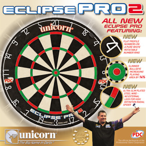 Unicorn Bristle Board Eclipse Pro2 Dartboard Dartscheibe Steeldart HD2 pro