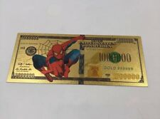 Billet 1000000 Dollars Spiderman Gold / Carte Card Or NEUF Marvel 1 million $