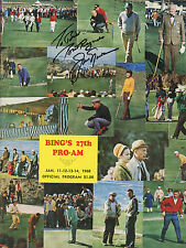 Jack Nicklaus  signed  1968 Bing Crosby Pro-Am Program - Rare VG+/EX