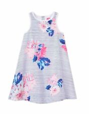 Joules Girls Woven Dress - Chalk Posy Stripe Multi 3 Years / 98 Cm