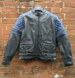 ProSpeed leather biker jacket removeable shoulder and elbow armour Sz UK Small.
