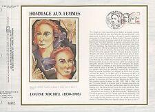 FEUILLET CEF / DOCUMENT PHILATELIQUE / HOMMAGE AUX FEMMES LOUISE MICHEL 1986