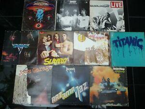 11 LPs Rock Heavy Hardrock 70er Led Zeppelin Nazareth Slade Zappa Uriah Heep etc