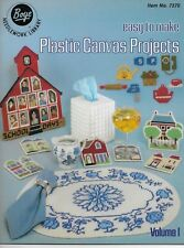 Easy to Make Plastic Canvas Projects Pattern Book Tissue Cover Placemat