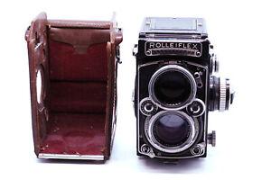 Exc NR Rollei Rolleiflex 2.8E TLR Film Camera Schneider Xenotar 80mm 80/2.8