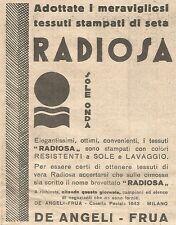 W4348 Tessuti RADIOSA - Pubblicità del 1930 - Vintage advertising