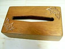 Wooden Hand Crafted Tissue Box Cover