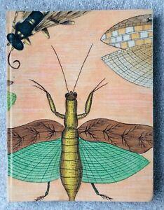 Art Sketchbook Linen Cover Handmade Paper Dragonfly Unique