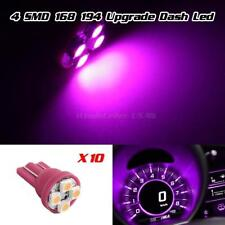 10x T10 194 Instrument Speedometer Cluster 4-SMD LED Dash Light Bulb Pink Purple