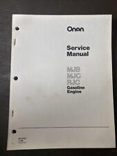 ONAN MJB MJC RJC Engine Service Manual Book Workshop Guide Repair Overhaul