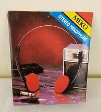 NEW IN BOX Vintage Meko Stereo Headphones 3.5mm 1/8 inch Headphone Jack!