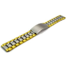 De despliegue plegable de Reloj Pulsera De Acero Inoxidable Para Hombre 2-tone 18mm bl04