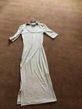 Ladies White with black stripes straight dress - Size 8 - Top Shop - New with ta