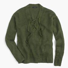 4fb3dd1038 J.Crew Linen Lace Up Beach Sweater Top Size L F2071