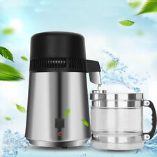 4L Water Distiller Purifier Stainless Steel Glass Jar Premium Countertop UK