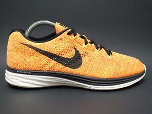 Nike Flyknit 3 Women's Running Shoes 698182-700 Volt/Blk/Crimson/Mango Sz 9 US