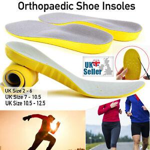 Memory Foam Orthopaedic Shoe Insoles Pads Trainer Unisex Foot Feet Comfort Heel