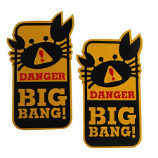 2 x Big Bang Beware Door Window open close Crab stickers decals sign JAPAN funny