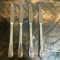 1847 Rogers Bros Daffodil Silverplate Flatware Dinner Knives Lot of 4