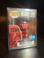 Funko POP! STAR WARS 297 Boba Fett (FUTURA) WONDERCON 2020 Convention Sticker