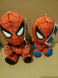 New Marvel Avengers Infinity War SpiderMan Iron Spider & Spiderma Plush Lot of 2
