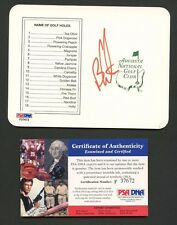 Ben Curtis Golfer Signed Augusta National Scorecard PSA/DNA COA AUTO Autograph