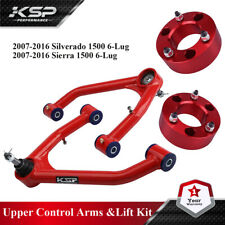"""Front Control Arm 2-4"""" Lift + 3"""" Front Lift Kit Spacer For GMC Chevy 2007-2014"""