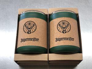 Pair Of Jagermeister Liqueur Travel Tumbler W/ Lid Cup
