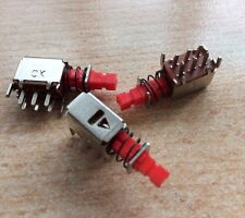PCB switch DPDT latching switch spigot size 3 x 3 mm   pack of 3  tons sold Z952