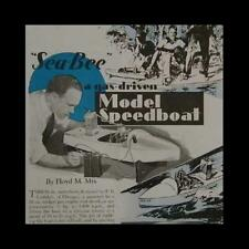 "32"" Tether Model Speedboat 1937 How-To build PLANS Sea Bee *Beauty*"