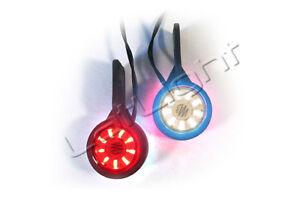 2 Stück LED Klarglas Umrissleuchten LKW Begrenzungsleuchte Trailer 12 / 24 Volt