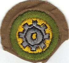 BOY SCOUT FOUNDRY PRACTICE SAND FINE TWILL MERIT BADGE (TYPE D) 1942-1946